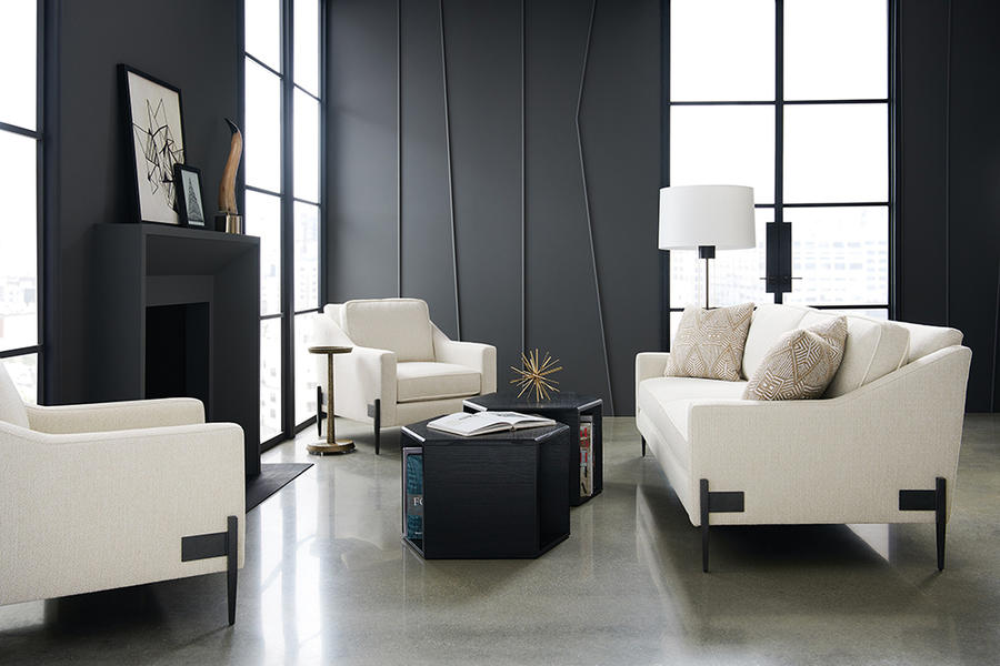The Remix sofa and chairs from Caracole