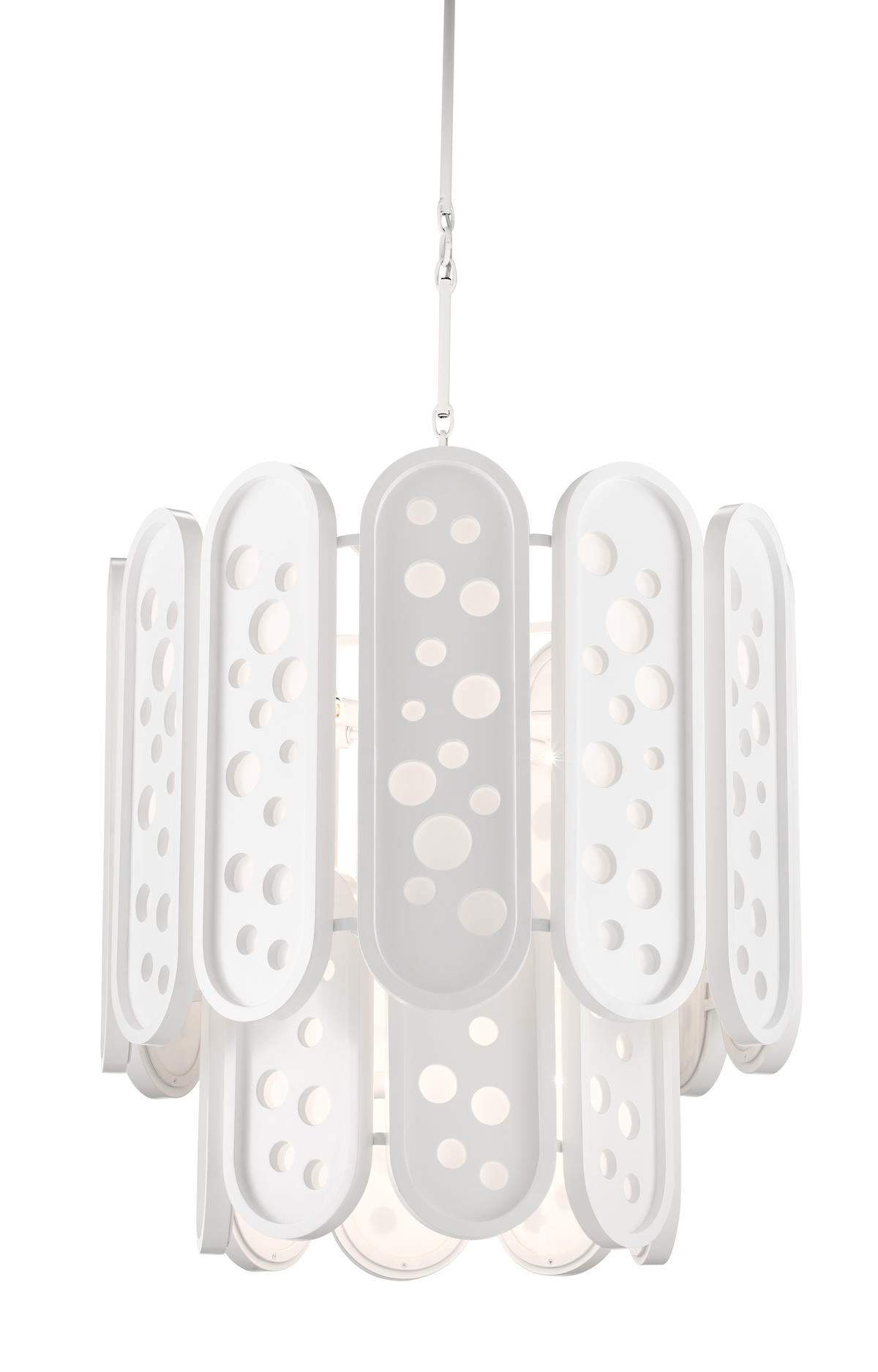 The Lapidus chandelier from Sasha Bikoff for Currey & Company