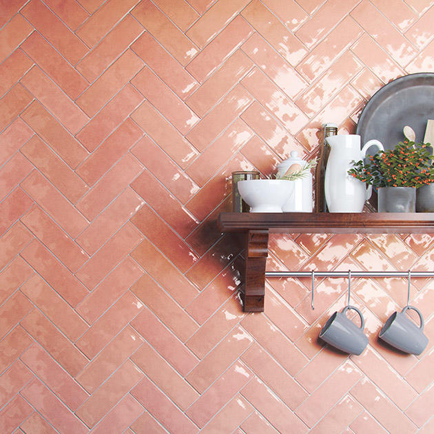 The Passion tile in Rosa from Emser Tile