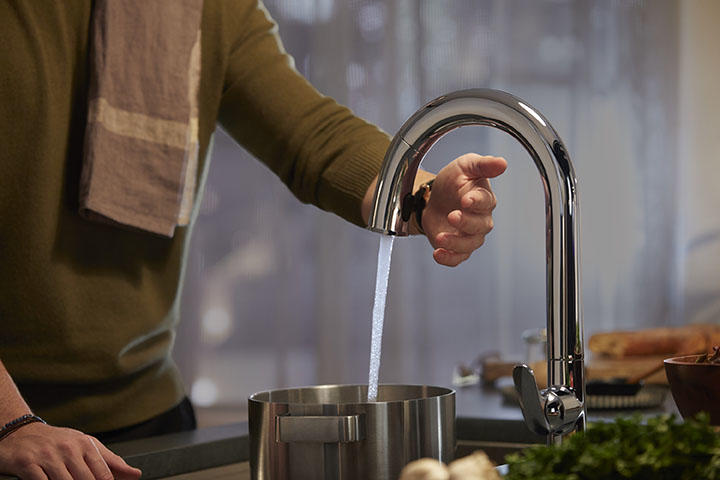 A touchless faucet from Kohler