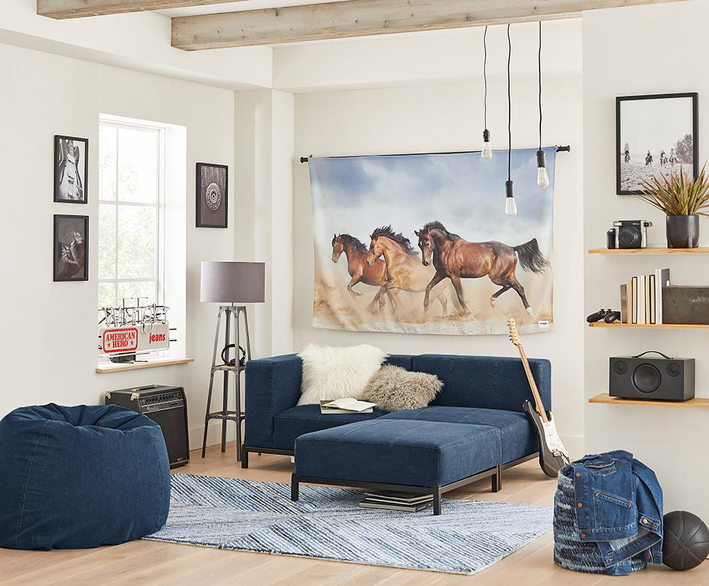 Pottery Barn's new collection with Wrangler