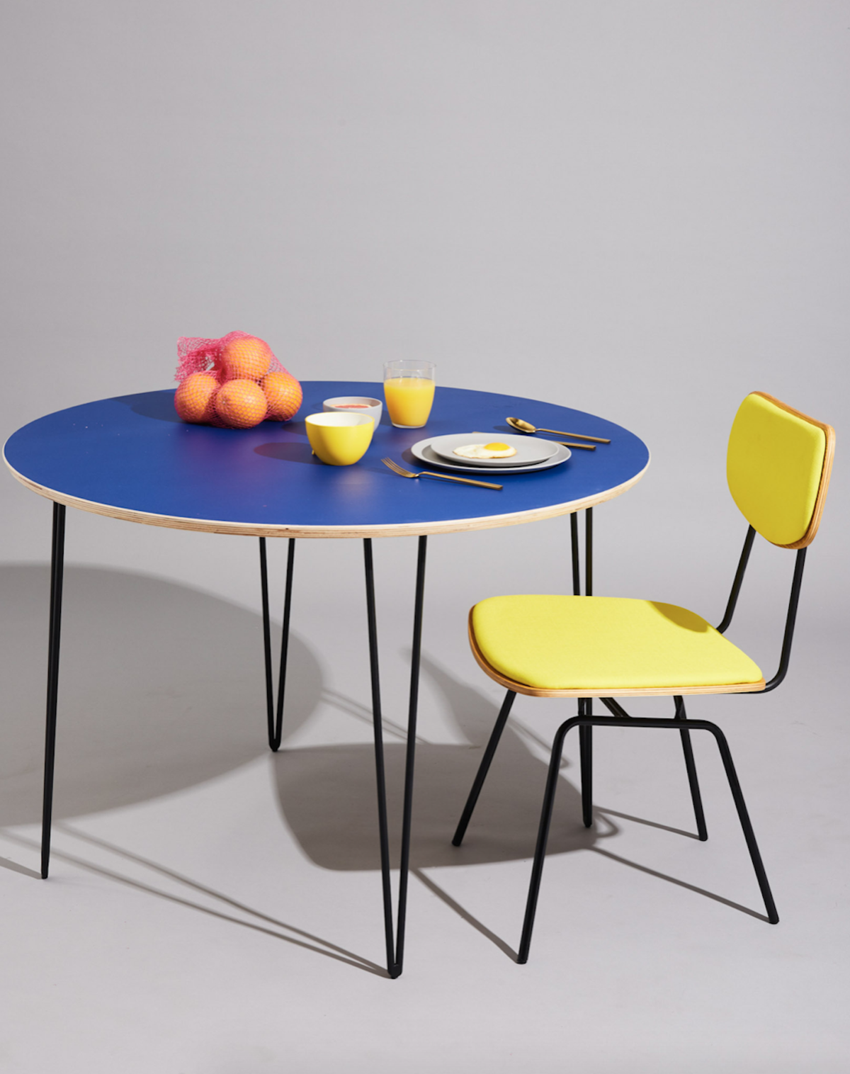 The Kobe dining chair from Inside Weather in Vibrant Yellow
