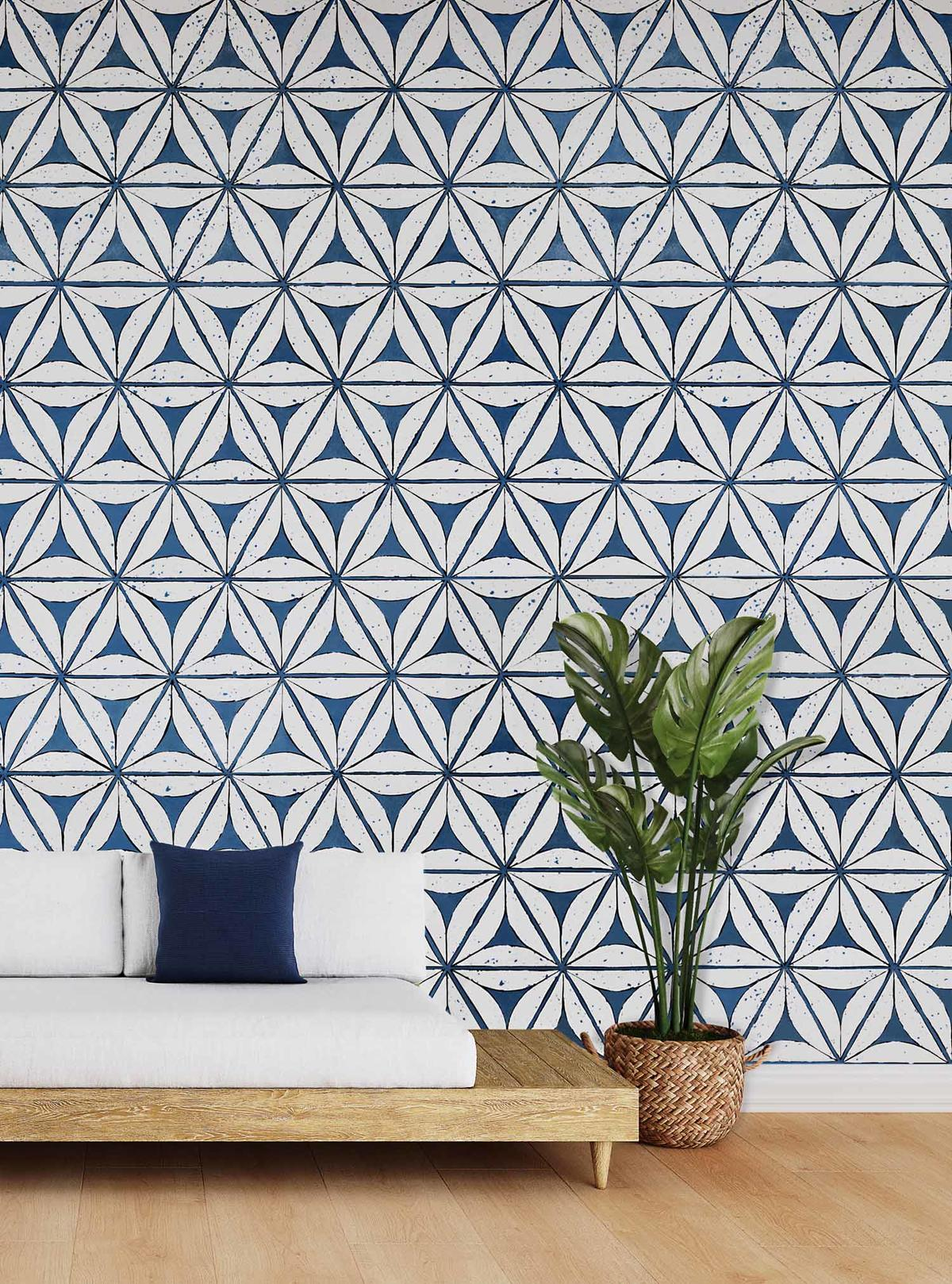 Breeze Block wallcovering from Phillip Jeffries