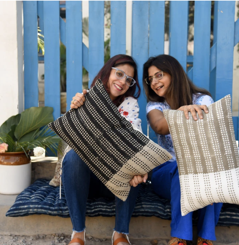 This sister-owned brand's modern take on traditional Indian textiles