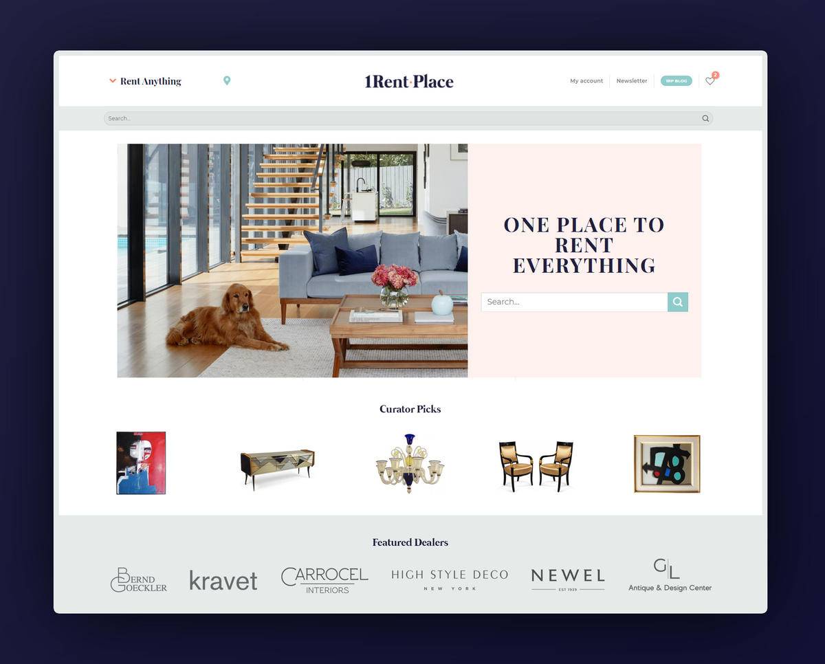 1RentPlace brings the rental model to high-end antiques and decor