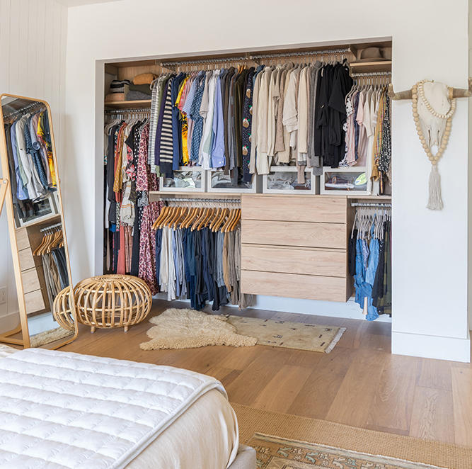 The Avera closet as designed by Natalie Myers