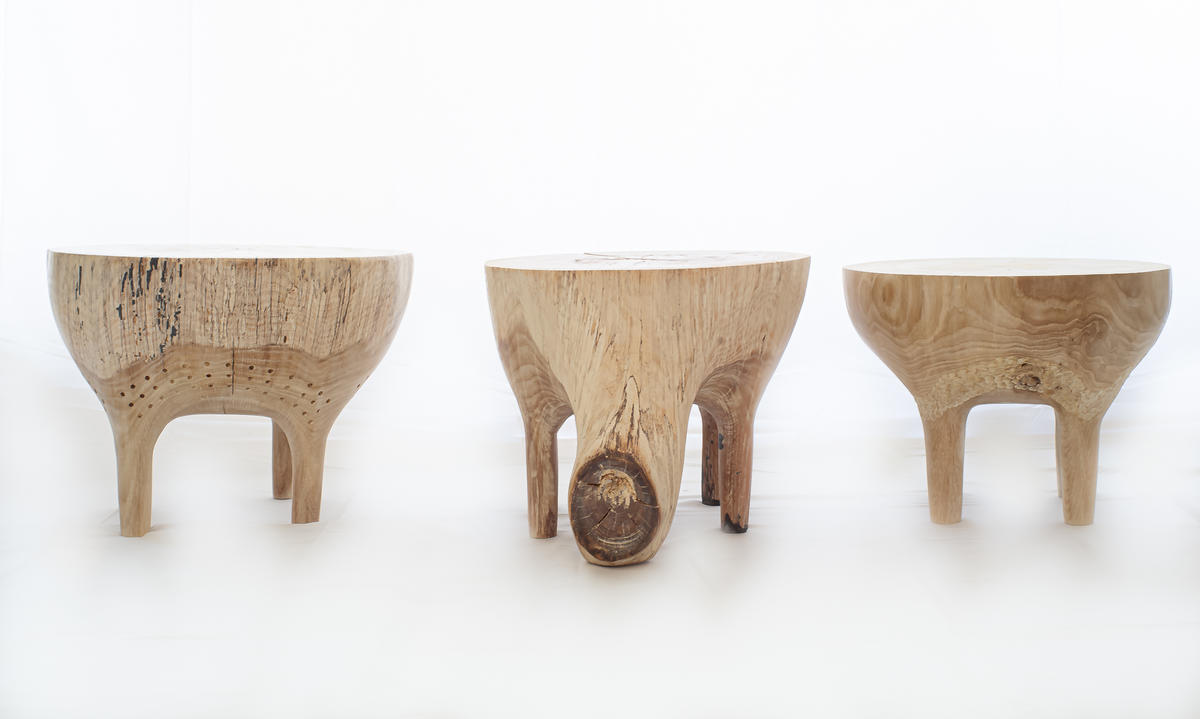 A musician turned woodworker who uses every part of the tree
