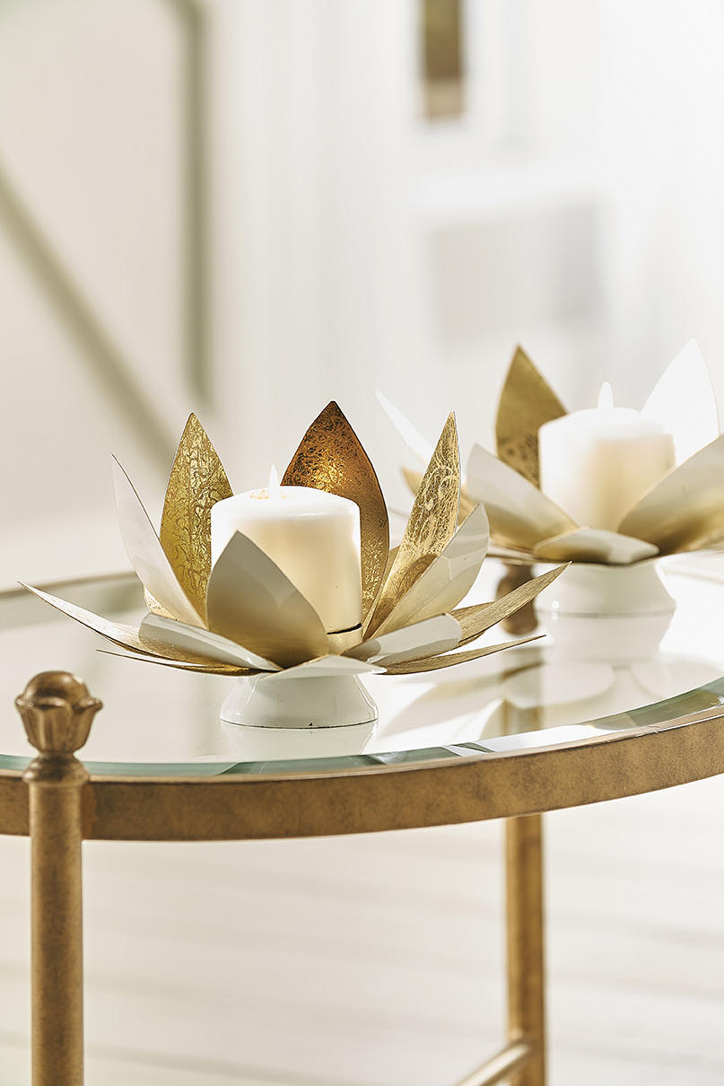 The lotus candleholder from Chelsea House