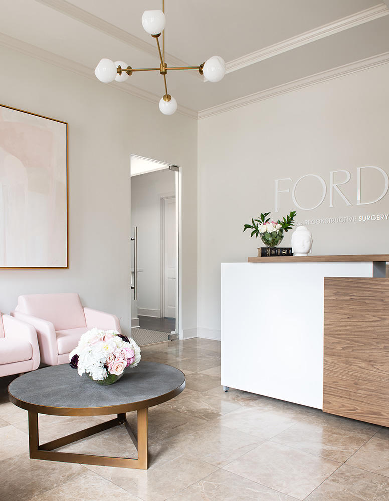 The client came to the project with strong ideas for the color palette, favoring pinks and neutrals
