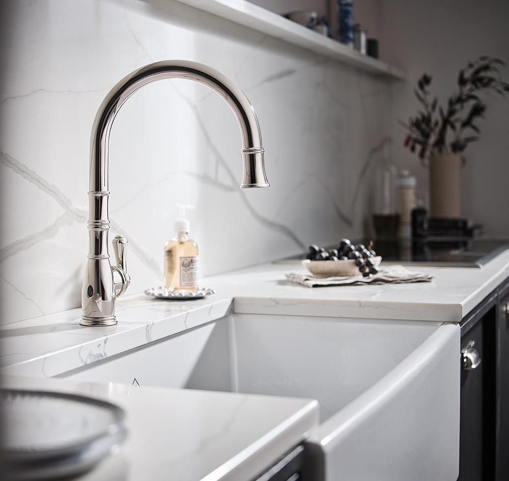 Simplify and elevate any kitchen with House of Rohl's touchless faucets
