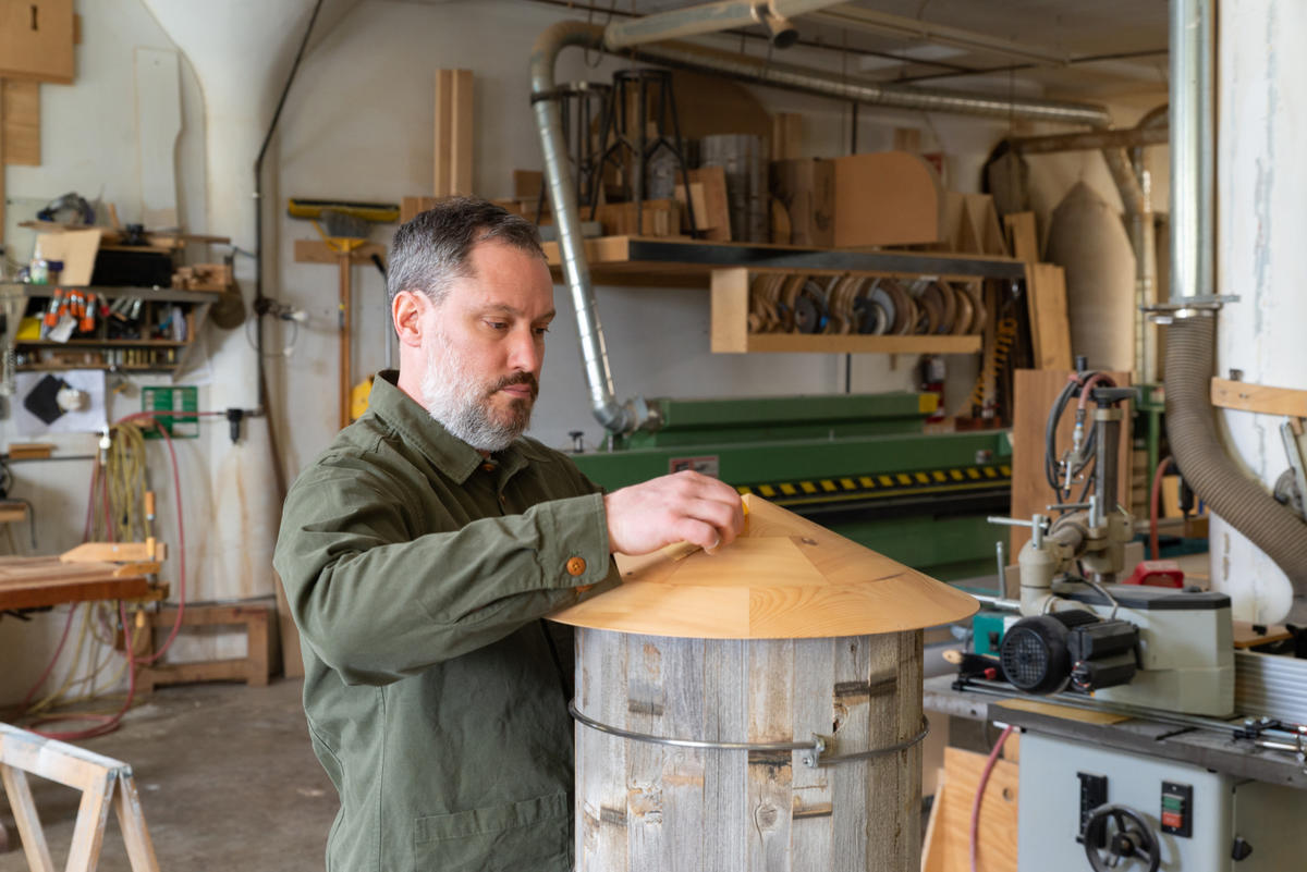 This Brooklyn woodworker won't look at other people's work