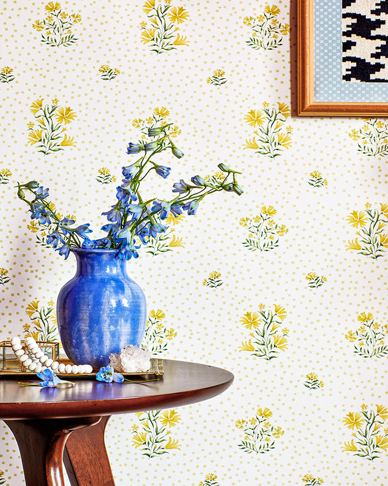 This watercolorist is bringing a delicate touch to floral wallpaper