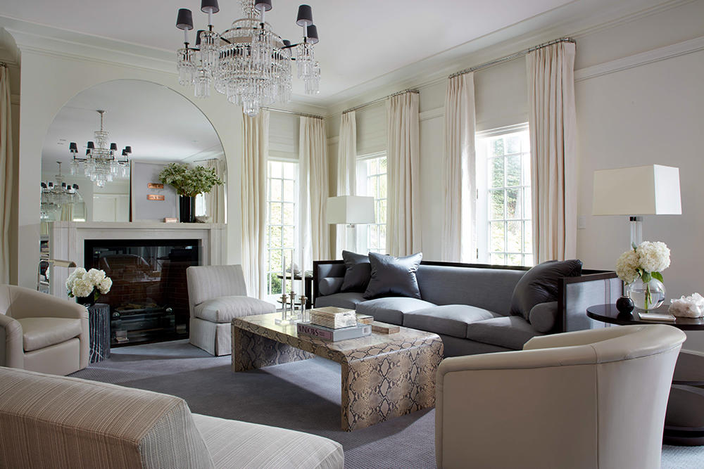 A living room in Ceglia's Westchester project