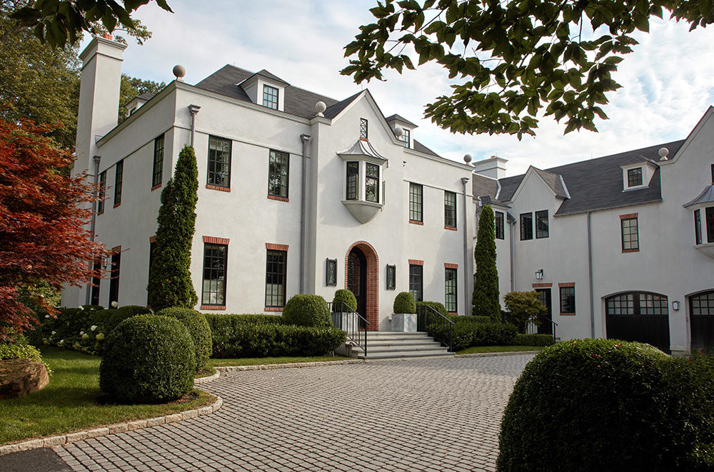 The exterior of the house in Westchester