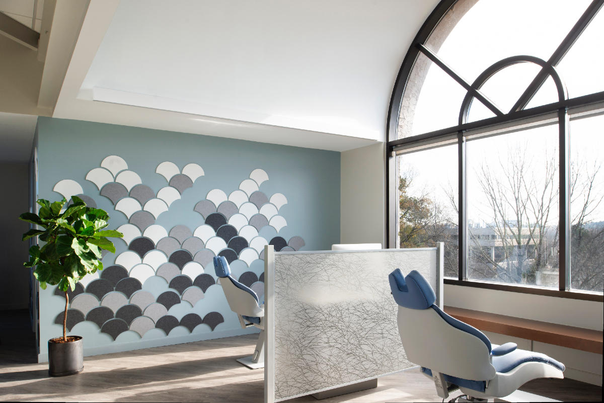 How this designer created a serene, biophilic orthodontist's office
