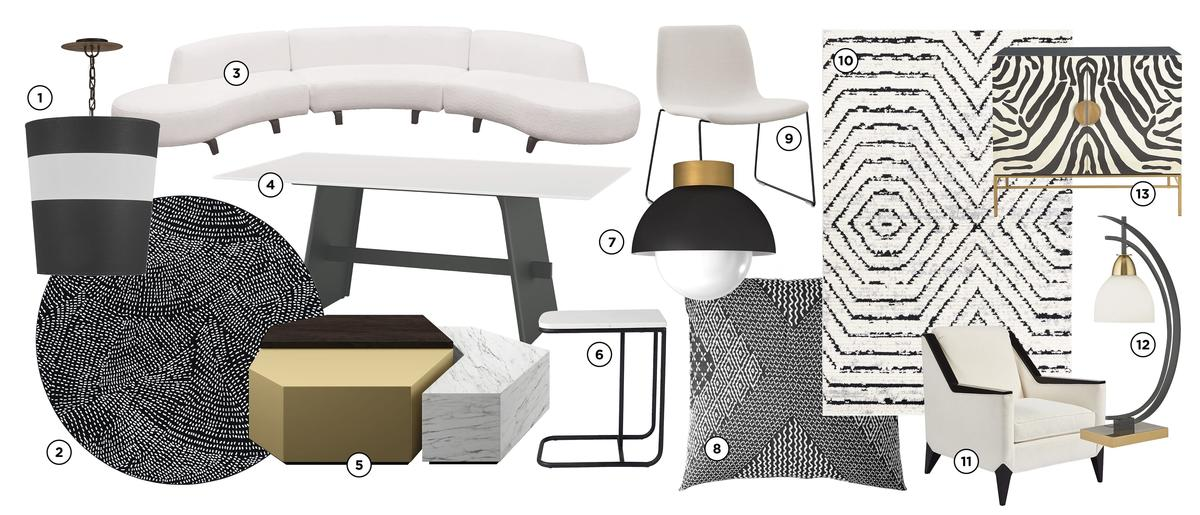 Trend alert: Black and white and chic all over