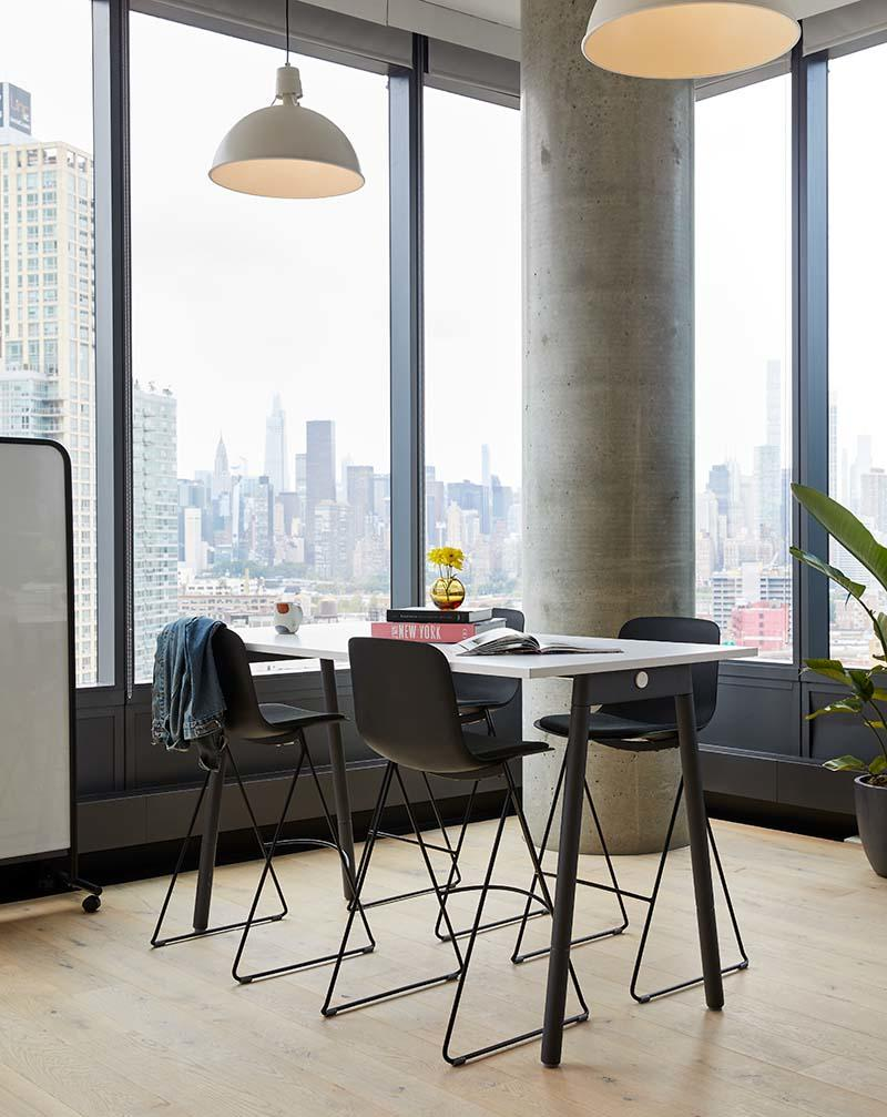 WeWork members can choose from a collection of curated office bundles or select a la carte furniture.