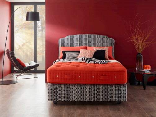 Vispring and Missoni Home partner on bed collection