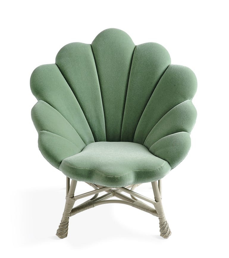The Upholstered Venus Chair by Soane Britain, available on Dering Hall