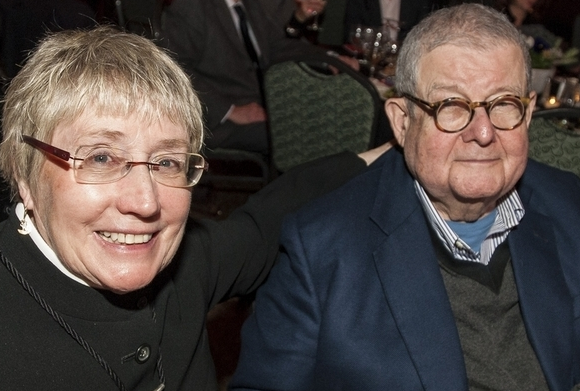Margaret McCurry and Stanley Tigerman; courtesy Crain's/Erik Unger