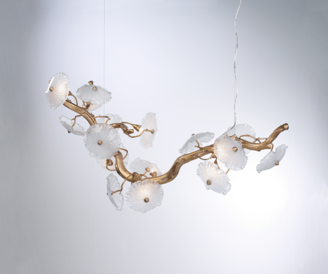 Biasi & Co is displaying Serip Lighting's springtime-inspired Nenufar lighting collection