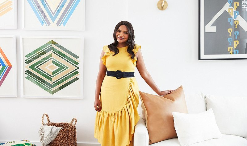 Mindy Kaling at home