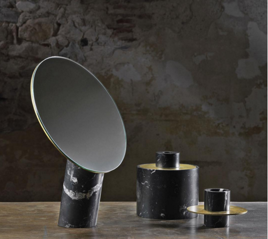 Desco Mirror, Box and Candlestick from Pibamarmi's Desco Collection