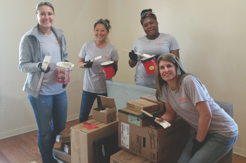 American Standard employees helped to paint the apartments and common areas of the Naomi's Way family shelter