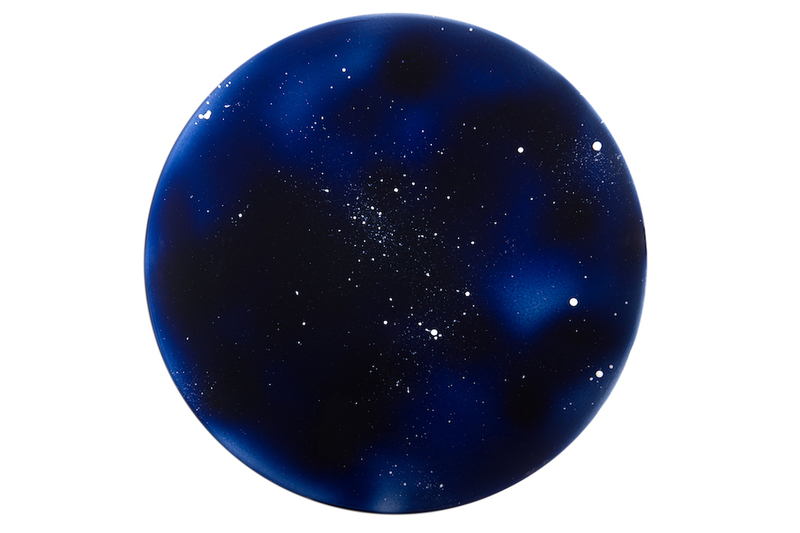Round Platter - Starry Blue Night