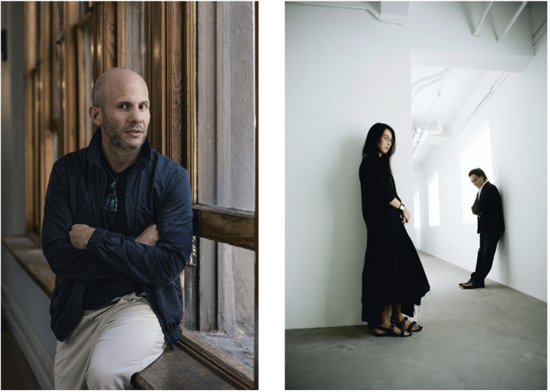 Architects Rafael de Cárdenas (left) and Lyndon Neri and Rossana Hu from Neri&Hu (right); Guillaume Gaudet (left), Neri&Hu (right)