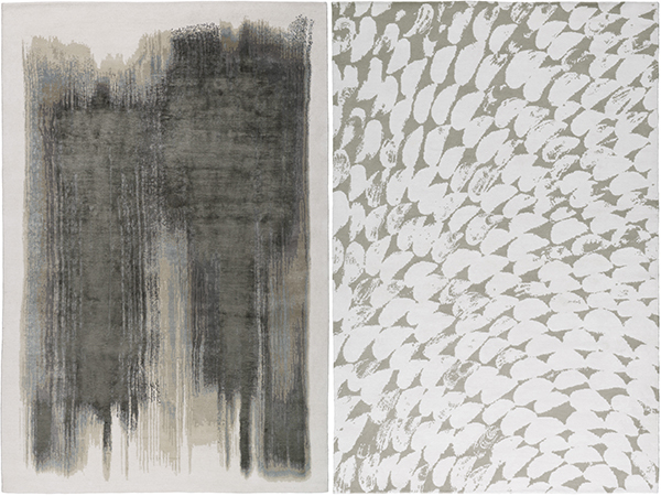 Abstract designs take centerstage in exhibit at the rug company sisterspd