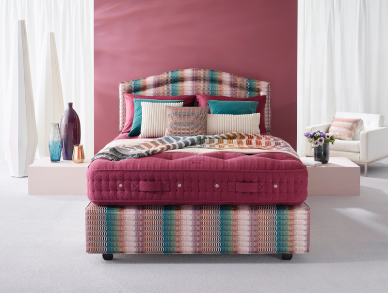 Vispring's Missoni bed