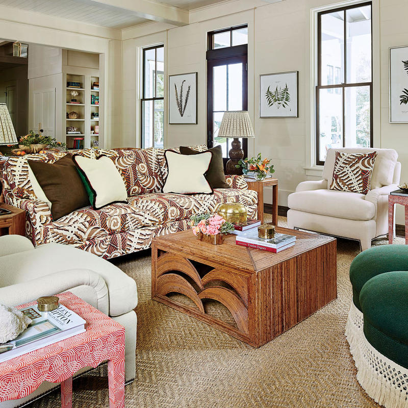 Living Room, courtesy Laurey W. Glenn; Styling: Buffy Hargett Mille