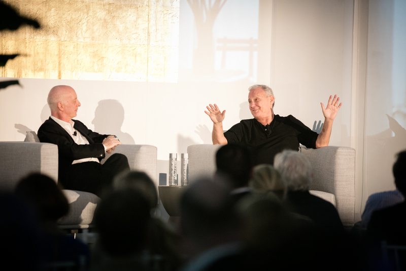 Paul Goldberger and Ian Schrager in discussion at last year's summit