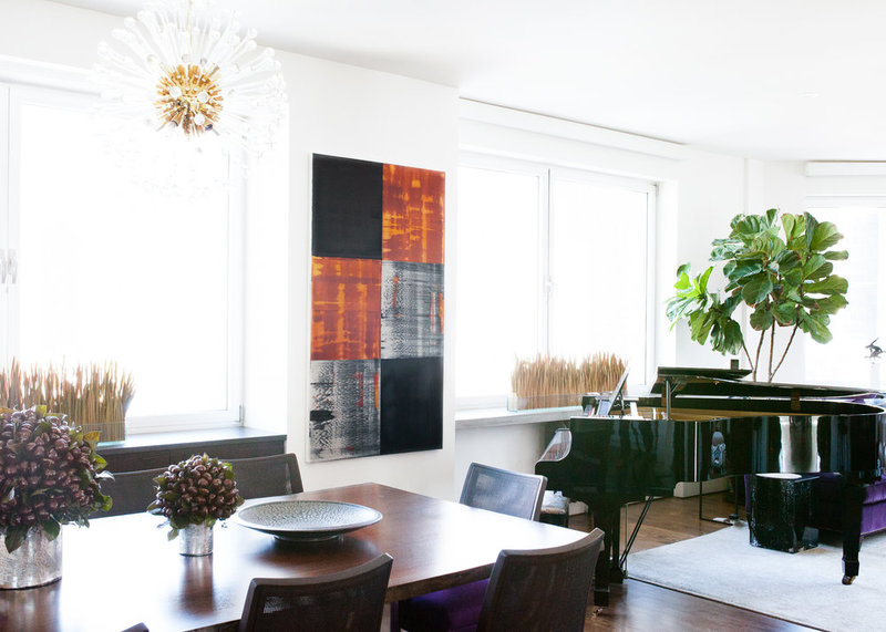 Ricardo Mazal art sourced for a Tribeca loft