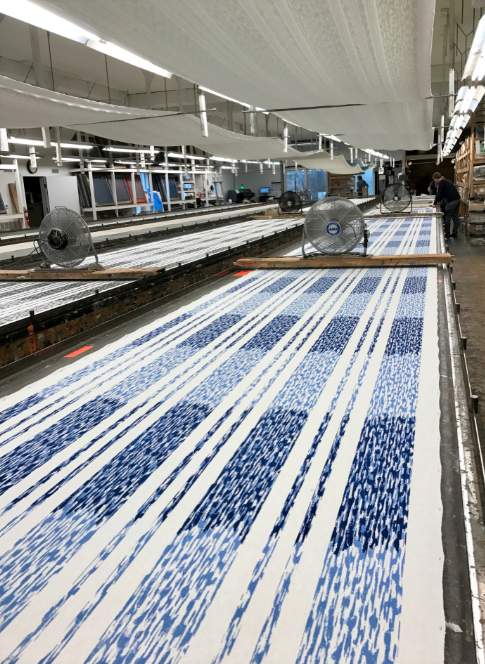 Peter Fasano Ltd. fabric in production