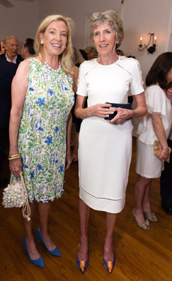 Designer and co-host Jane Churchill (left) with fellow designe Pauline Pitt; courtesy Capehart Photography