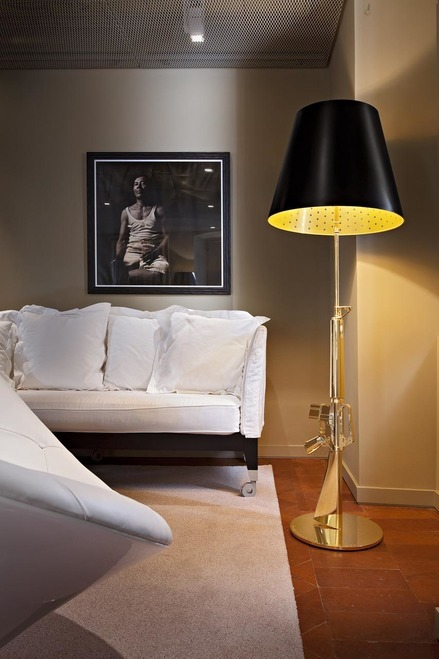 FLOS's Guns Lounge lamp by Philippe Starck