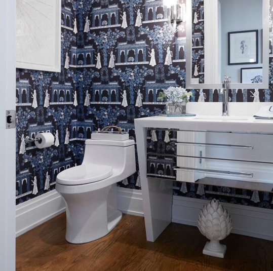 Bathroom by Ken Gemes Interiors at the Hampton Designer Showhouse