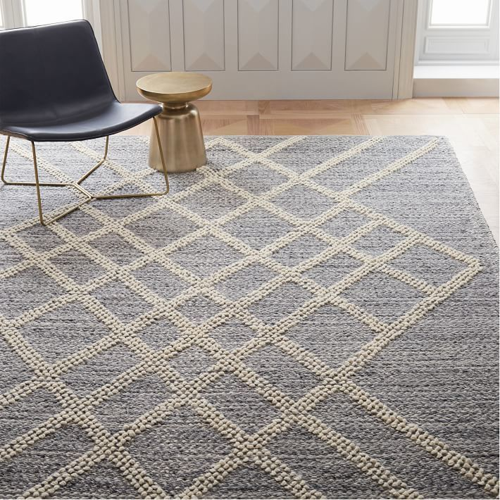 West Elm's Argyle Sweater Rug, a Fair Trade Certified™ product