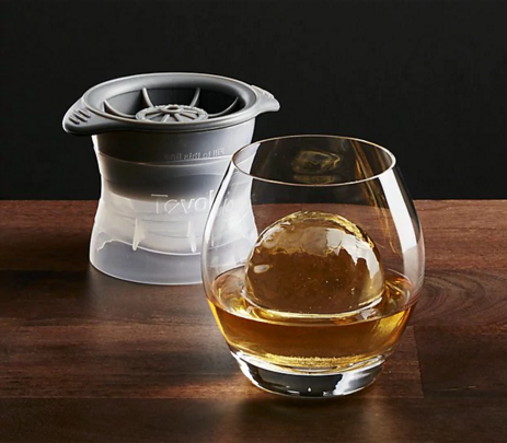Tovolo sphere ice molds; available at Crate and Barrell