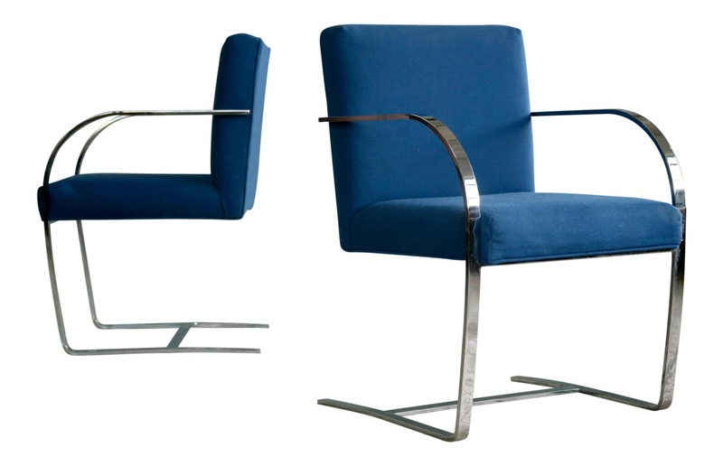 Pair of Brno Style Side Chairs in the Manner of Mies Van Der Rohe; Price: $900, Net Price: $765