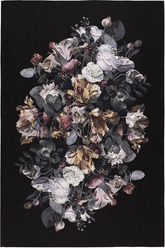 Chiaroscuro rug by Alexander McQueen