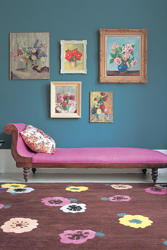 Anemone Cocoa rug by Marni
