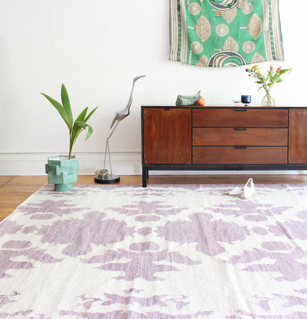 "Eskayel's ""The Dance - Rooster"" Flatweave Rug"