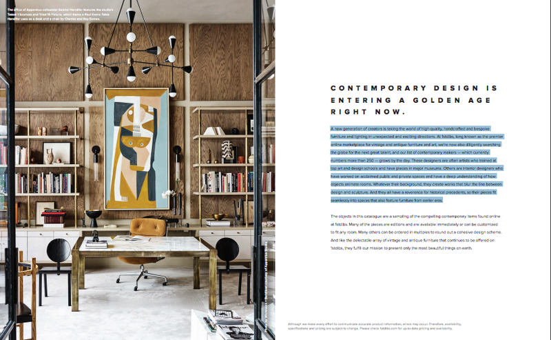 1stdibs launches first-ever catalog, expanding Contemporary section