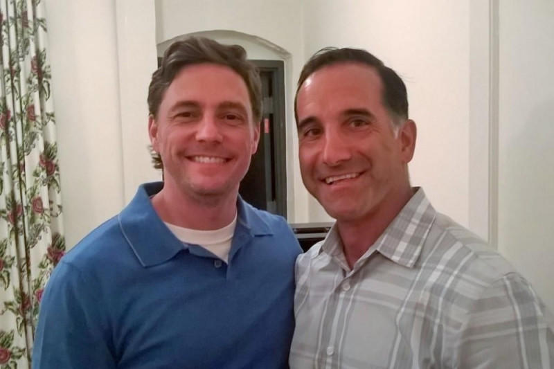Eric Soroe (left), Jerry Galanti