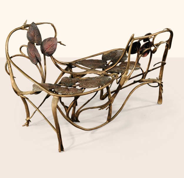 Claude Lalanne's Love Seat Bench