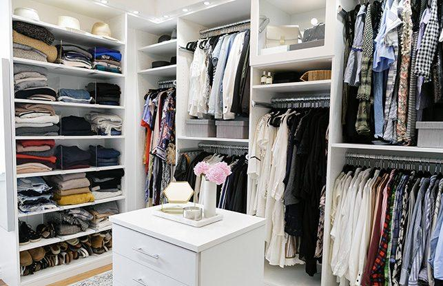 California Closets recently transformed Leslie Bruce's closet; courtesy Emma Feil Photography
