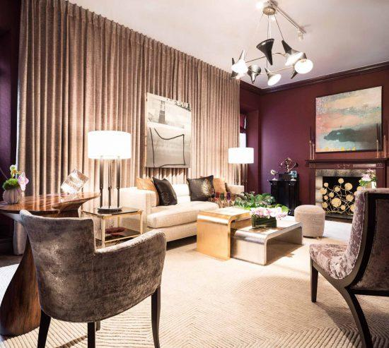 James Rixner's sitting room brings in TA pieces; courtesy Alex Lucaci